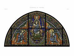 Feuille E Monografie de la Cathedrale de Chartres - Atlas - Vitrail de la vie de Jesus Christ - Restored Version 74--2.jpg