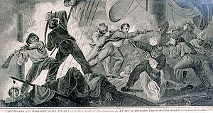 Capture of the Jeune Richard - A contemporary engraving of the sort that popularised Rogers' exploits.