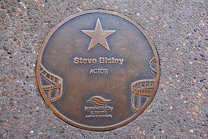 Steve Bisley - Bisley's plaque at the Australian Film Walk of Fame, The Ritz Cinema, Randwick, Sydney