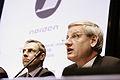 Finlands och Sveriges utrikesminstrar - Alexander Stubb och Carl Bildt - vid Nordiska radets session i Helsingfors. 2008-10-27 (1).jpg