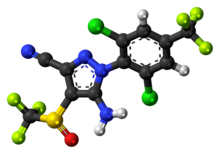3D chemical structure of fipronil