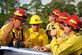 Firefighters Conduct an Operational Planning Meeting. New Containment Lines are Being Established After the Fire Broke Through on the Northern Side May 23 (5759187228).jpg