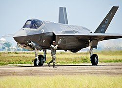 A F-35A Lightning of the 33rd Fighter Wing based at Elgin AFB.