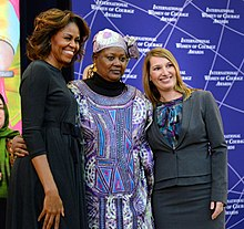 First Lady Michelle Obama and Deputy Secretary Higginbottom With 2014 IWOC Awardee Fatimata Touré of Mali (12935627833).jpg
