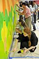First Lady of the US, Congressional Spouses, youth paint mural at Joint Base Anacostia-Bolling 110519-F-OR567-206.jpg