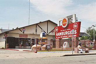 1940 in the United States - May 15: The first McDonald's restaurant (photographed in 2005).
