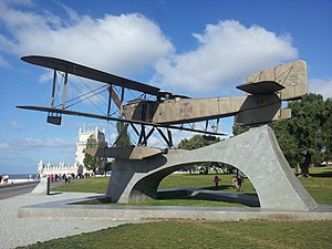 Carlos Viegas Gago Coutinho - Image: First South Trans Atlantic flight monument in Lisbon