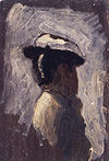 Fishing at Gloucester on the Delaware river - study of a woman's head B246.jpg