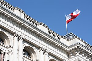 Gibraltar National Day - Flag of Gibraltar flying over the Foreign and Commonwealth Office in London during the 2013 National Day