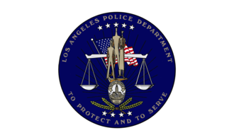 LAPD Air Support Division - Image: Flag of the Los Angeles Police Department