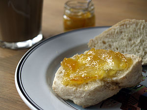 Marmalade - Marmalade spread on bread