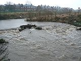 flood water on the Ribble Link