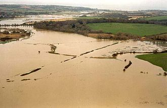 Floodplain - The floodplain after a one-in-10-year flood on the Isle of Wight