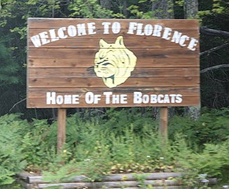 Florence (CDP), Wisconsin - Image: Florence Wisonsin Sign US2US141