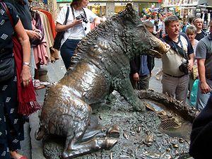 Loggia del Mercato Nuovo - Image: Florencja Il Porcelino RB
