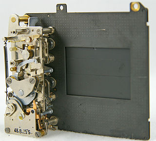 Focal-plane shutter Mechanism that controls the exposure time in cameras