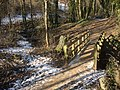 Footbridge by Candleston Castle - geograph.org.uk - 1654368.jpg