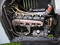 The engine in a Ford model T. Photographed by ...