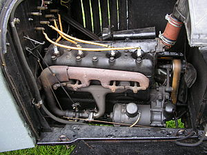 A Ford sidevalve engine in a Ford model T.