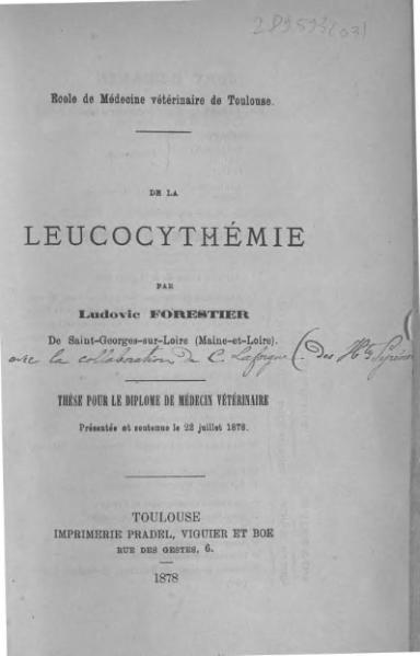 File:Forestier - De la leucocythémie.djvu