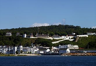 Protected areas of Michigan - Fort Mackinac, part of Mackinac Island State Park