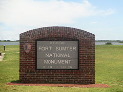Fort Sumter National Monument sign IMG 4524