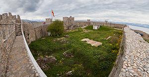 Samuel's Fortress, Ohrid - Image: Fortaleza de Samuel, Ohrid, Macedonia, 2014 04 17, DD 53