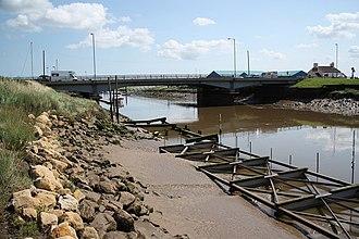 Fosdyke - Fosdyke Bridge carrying the A17 over the Welland