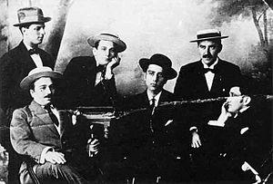 U Fleků - Founding members of Hajduk Split, at U Fleků.