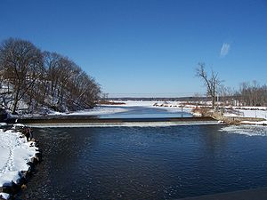Fox–Wisconsin Waterway -  View of Dam at Montello on the Upper Fox River.