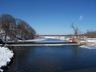 Fox River (Wisconsin) - Looking west toward Buffalo Lake in Montello