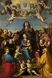 Madonna and Child with Saint Anne and the patron saints of Florence