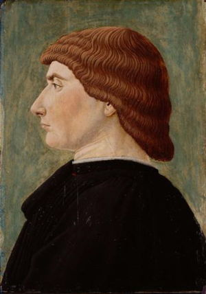 Fra Carnevale - Portrait in profile, 1470 (Kunsthistorisches Museum)