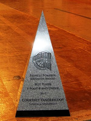 Frances Pomeroy Naismith Award - Image: Frances Pomeroy Naismith Award