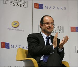 ESSEC Business School - French President Francois Hollande at Les Mardis de l'ESSEC in 2011