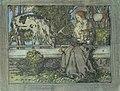 Franz Naager - Maria mit dem Jesuskind, ein Hirsch neben ihnen stehend.JPG