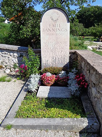 Emil Jannings - Emil Jannings' grave at St Wolfgang im Salzkammergut