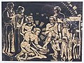 Fußwaschung, Margret Hofheinz-Döring, Linolschnitt, 1932 (WV·Nr.419).JPG