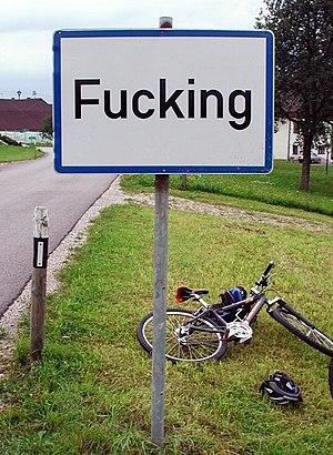 Fucking, Austria, street sign