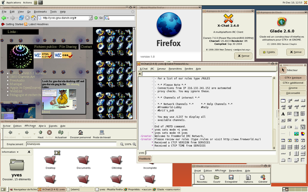 GNOME running on OpenDarwin. GNOME 2 running on openDarwin (2004).png