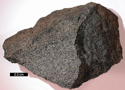 Sample of igneous gabbro GabbroRockCreek1.jpg
