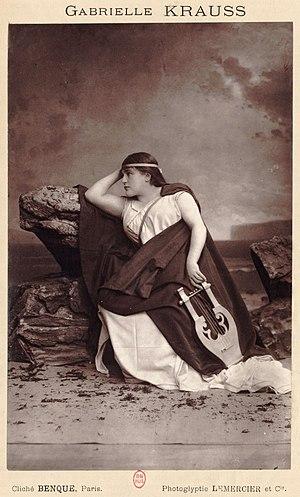 Gabrielle Krauss - Gabrielle Krauss in an unidentified role in Paris
