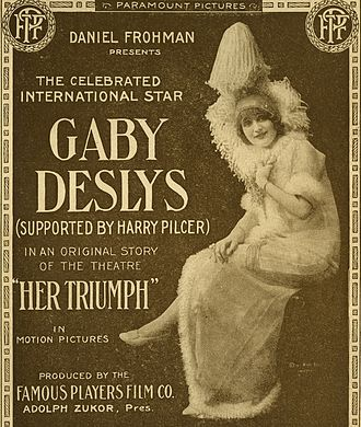 Gaby Deslys - Poster for Deslys' only US film, Her Triumph 1915
