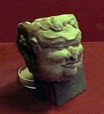 The terracotta figure popularly believed as the portrait of Gajah Mada, collection of Trowulan Museum. Gajah-Mada.jpg