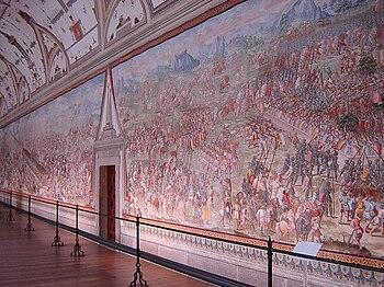 Frescos en la Sala de las Batallas.
