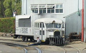 Galloping Goose (railcar) - Weekly maintenance of Goose number 3 at Knott's Berry Farm