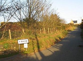 Y Rhiw - Image: Gallt y Rhiw hill geograph.org.uk 608369