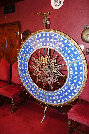 Big Six wheel - Image: Gambling wheel by H. C. Evans and Co., Chicago Bayernhof Museum DSC06276