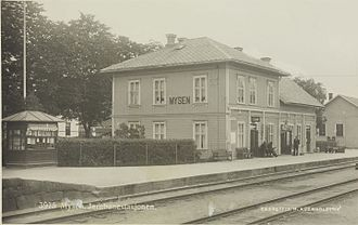 Mysen Station - The station building