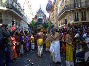 Celebrations of Ganesh by the Indian and Sri Lankan Tamil community in Paris, France